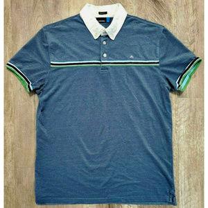 J. Lindeburg Mens Blue Polo Shirt Size Large